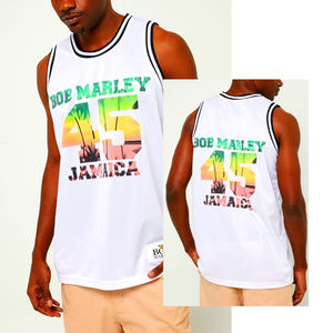 Bob Marley Basketball Jersey Tank Top M L XL NWT